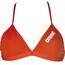 arena Solid Tie Back Bikini Kobiety czerwony